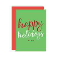 Happy Holidays - Christmas Holiday Seasonal Card Gift - Modern Cute Fun 5x7