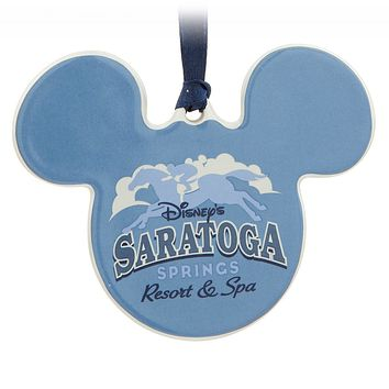 Disney Mickey Mouse Icon Saratoga Spring Resort Disc Christmas Ornament New