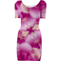 Pink Passionate Dreams Floral Print Bodycon Dress created by dflcprints   Print All Over Me
