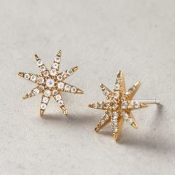Elizabeth and James Compass Rose Studs Gold One Size Jewelry