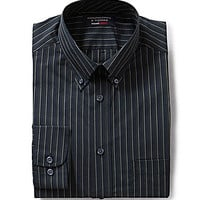 Roundtree & Yorke Travel Smart Striped Button-Down Collar Shirt