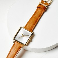 Free People K Square Face Leather Watch