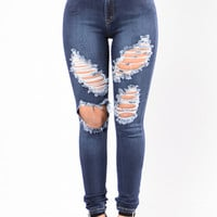 Natural Disaster Jeans - Dark Blue