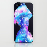 Galaxy Girl iPhone & iPod Skin by Krista Rae