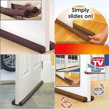 90 cm Door Window Stopper Dodger Dust Resisted Safety Protector Energy Saving Brown [8045603911]