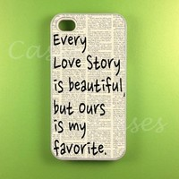 Iphone 4 4s Case - Our Story Iphone 4s Case, Iphone 4 Case, Rubber Protective Iphone 4s cases