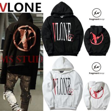 Vlone autumn and winter new classic logo men and women couple sweater jacket