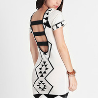 Moving On Geo Cutout Dress By Reverse - $52.00: ThreadSence, Women's Indie & Bohemian Clothing, Dresses, & Accessories