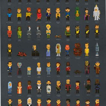 Star Trek Pixels Cast Poster 24x36