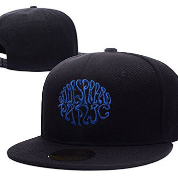 HAIHONG Widespread Panic Band Logo Adjustable Snapback Embroidery Hats Caps - Black