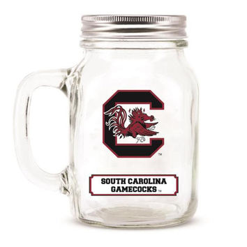 South Carolina Gamecocks NCAA Mason Jar Glass With Lid
