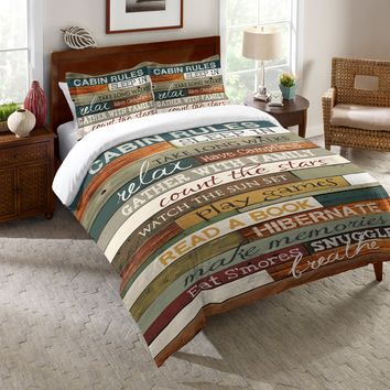 Cabin Rules Comforter