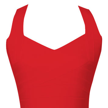 Red Bandage Bustier Top