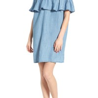 Hinge Off the Shoulder Chambray Cover-Up | Nordstrom