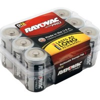 Rayovac Alkaline D Batteries, 12-Pack with Recloseable Lid (ALD-12)