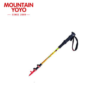 Compact Foldable Trekking Pole for Travel Hiking Camping Climbing Backpacking Walking Anti-Shock Collapsible Cane