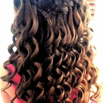 Waterfall Braid with Curls | Be Hairstyles