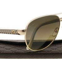 Gucci Women's Gg 4239 Aviator Sunglasses With Glitter Temples