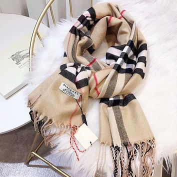 Burberry Autumn Winter Classic Women Men Warm Cashmere Cape Scarf Scarves Shawl Accessories
