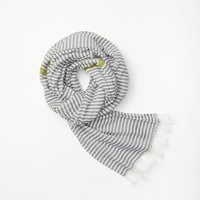 Rag & Bone - Harrington Scarf, Navy Multi Size 1
