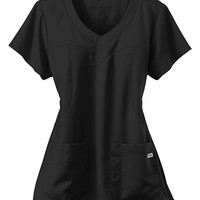 Greys Anatomy 3 pocket shaped yoke scrub top.