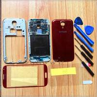 Red Replacement Full Housing Cover Case + Screen Glass Lens + Tools Film For Samsung Galaxy S4 i9500