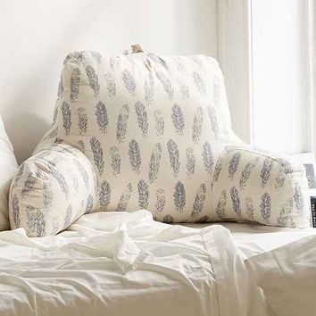 Plum & Bow Hand Drawn Feathers Boo Pillow