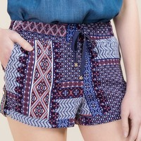 Allyson Patch Print Soft Shorts