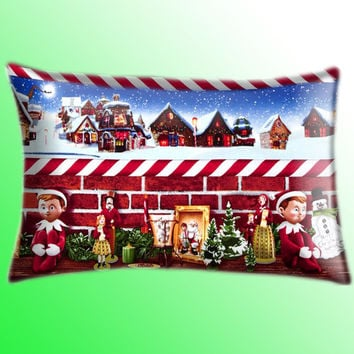 "Elf on the Shelf Christmas Color Cover Pillow Size 30"" x 20"""