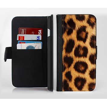 The Real Cheetah Print Ink-Fuzed Leather Folding Wallet Credit-Card Case for the Apple iPhone 6/6s, 6/6s Plus, 5/5s and 5c