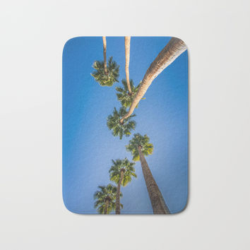 Upside Down LA Palms Bath Mat by ARTPICS