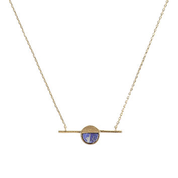 Lapis Peace Pendant Necklace