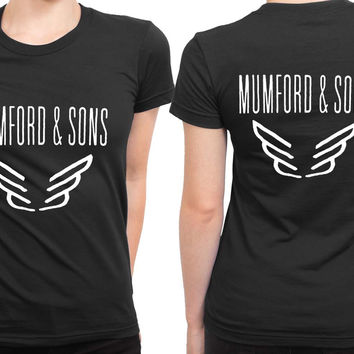Mumford And Sons Logo Band Tour 2 Sided Womens T Shirt