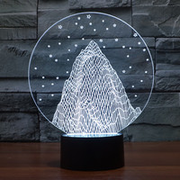 Multi-color Lights Gradient 3D LED Illusion Lamp [9245719620]