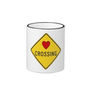 Valentine Love Crossing Ringer Coffee Mug