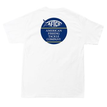 Blob Tee Shirt in White by AFTCO