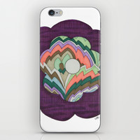 Deco Flower iPhone & iPod Skin by Erin Brie Art