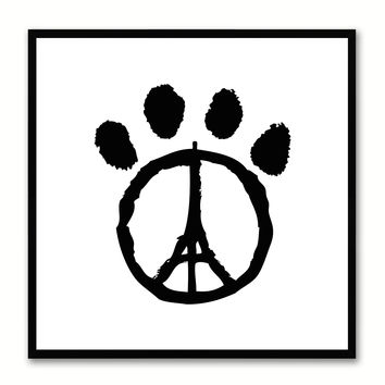 Paw Paris Social Media Icon Canvas Print Picture Frame Wall Art Home Decor