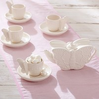 Ceramic Butterfly Tea Set | Pottery Barn Kids