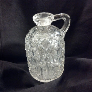 Antique Bottle, Cut Glass Cruet, Cut Crystal Bud Vase, Shabby Chic, Wedding Decor