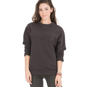 Venley Women's Unisex Light Weight Fleece Crew Neck Sweatshirt