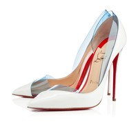 Miss Rigidaine 100mm White Patent Leather PVC