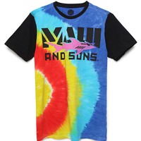 Maui & Sons Tied Up Tie Dye T-Shirt - Mens Tee - Tie Dye