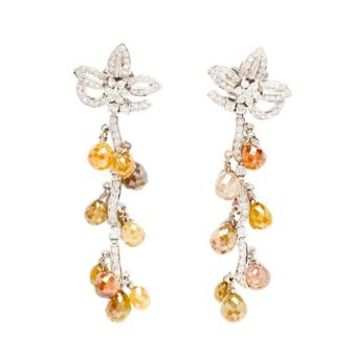SAQQARA | Diamond Drop Earrings | Browns fashion & designer clothes & clothing