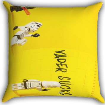 Lego Star Wars Darth Vader Sucks Vader Zippered Pillows  Covers 16x16, 18x18, 20x20 Inches