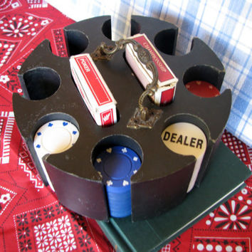 Vintage Poker Caddy 104 Clay Composite Chips Rat Pack 1960s