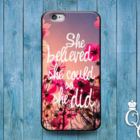 iPhone 4 4s 5 5s 5c 6 6s plus + iPod Touch 4th 5th 6th Gen Cute Pink Flower White Font Custom Quote Cover Fun Cute Girly Girl Phone Case