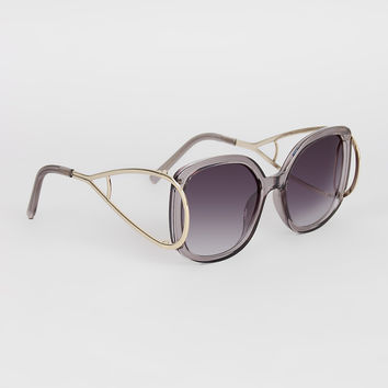Open Side Square Frame Sunglasses