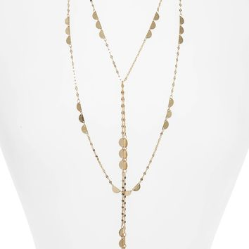 Canvas Layered Lariat Necklace | Nordstrom