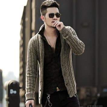 Mens sweaters male V neck winter Cardigan men Knitwear Sweater Slim Casual coat brand cardigan masculino fashion